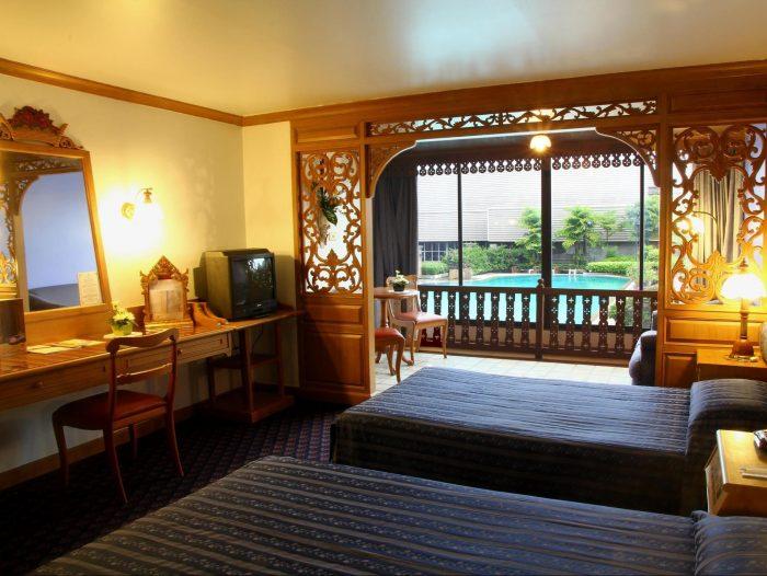 Phòng ngủ tại khách sạn Lotus Pang Suan Kaew - Tất tần tật kinh nghiệm du lịch Chiang Mai Thái Lan