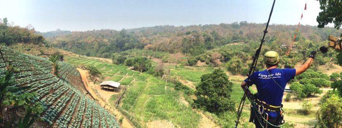 Trải nghiệm đu dây - Tất tần tật kinh nghiệm du lịch Chiang Mai Thái Lan