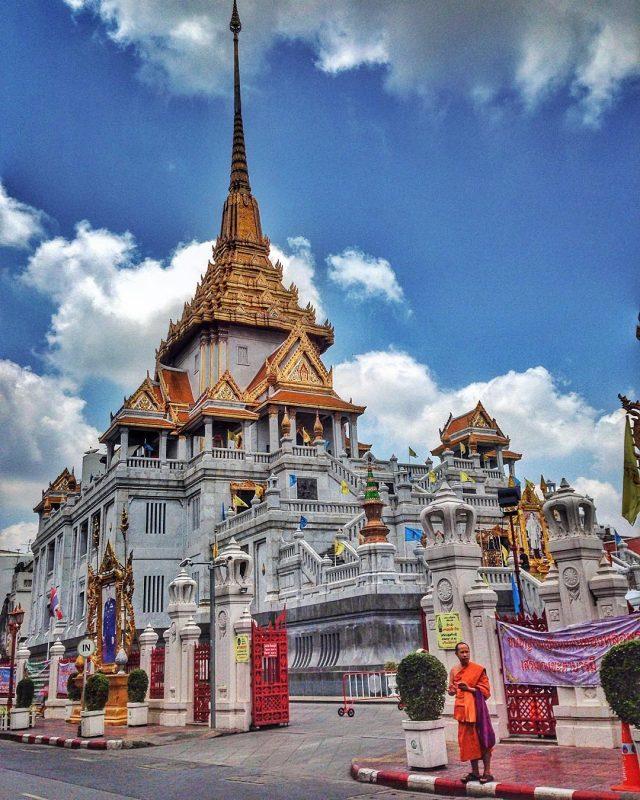 Wat Traimit chùa Phật Vàng Bangkok Thái Lan