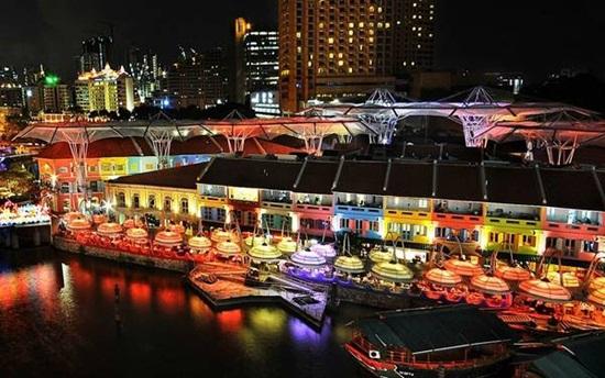 Clarke Quay điểm đến cho hoạt động ẩm thực và giải trí tại Singapore