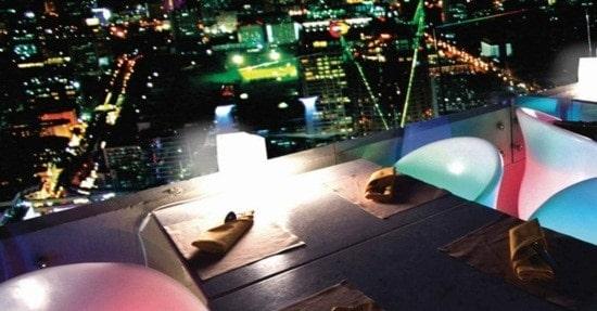 Buffet quốc tế tại Balcony Baiyoke Sky Hotel tầng 81