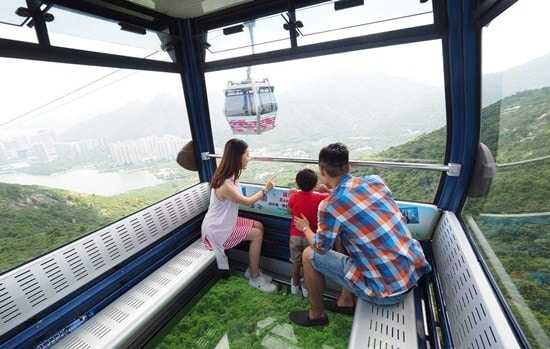 Vé Cáp Treo Ngong Ping 360-cáp treo đáy kính (một chiều/khứ hồi)