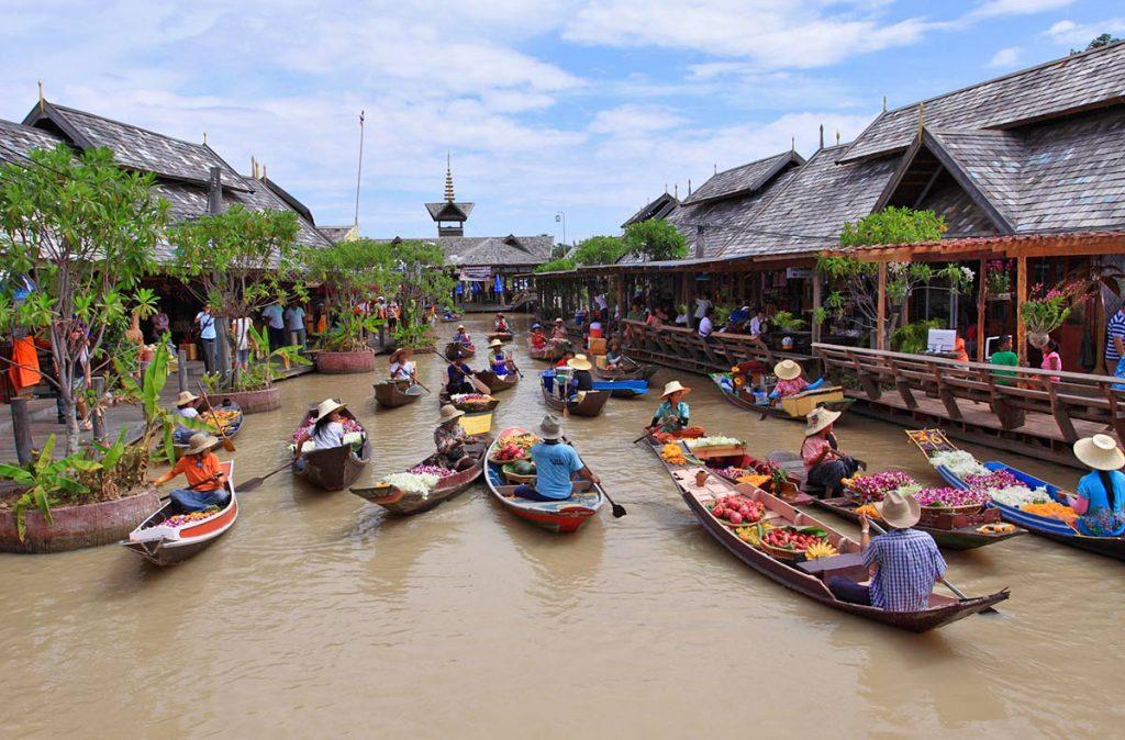 Chợ nổi - Điểm tham quan Pattaya