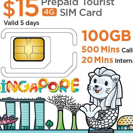 Singapore tourist 4g sim card, singapore 4g prepaid sim