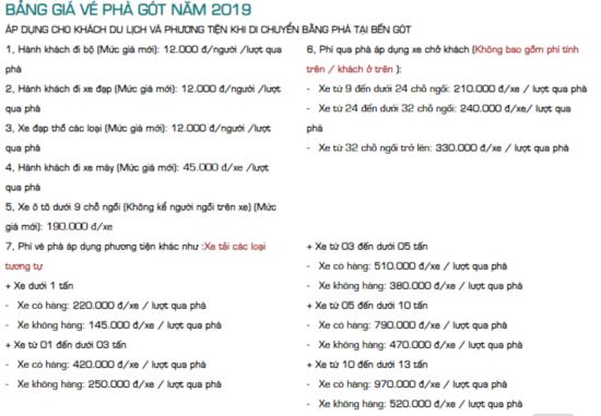 Bảng giá vé Phà Cát Bà mới nhất 2019-2020
