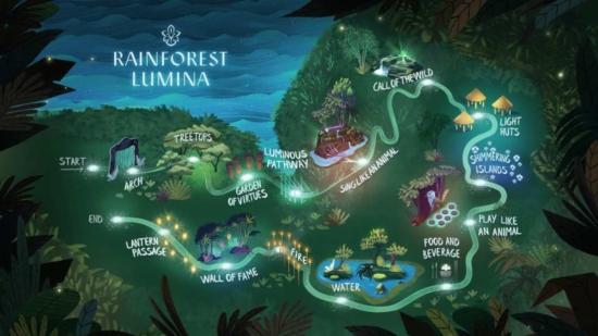 rừng mưa Rainforest Lumina ở Singapore Zoo