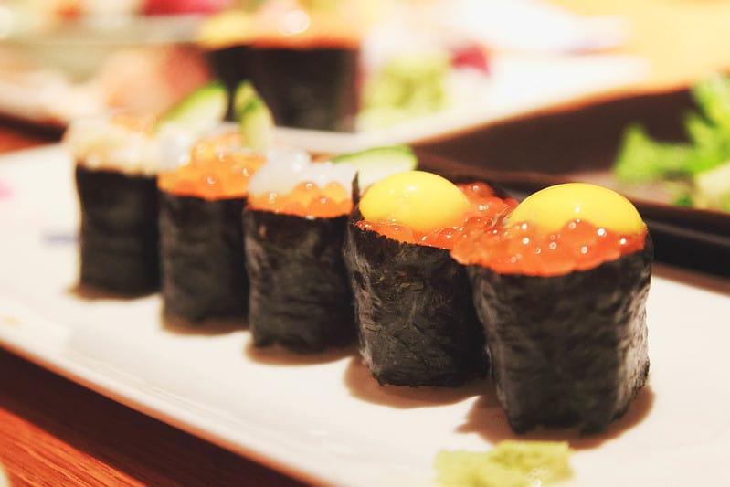 sushi gunkan Nhat Ban