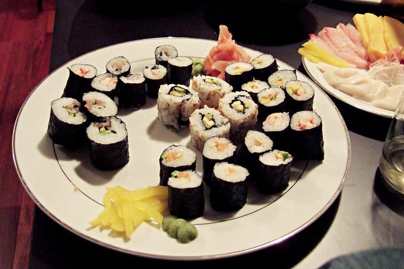 sushi makimono Nhat Ban