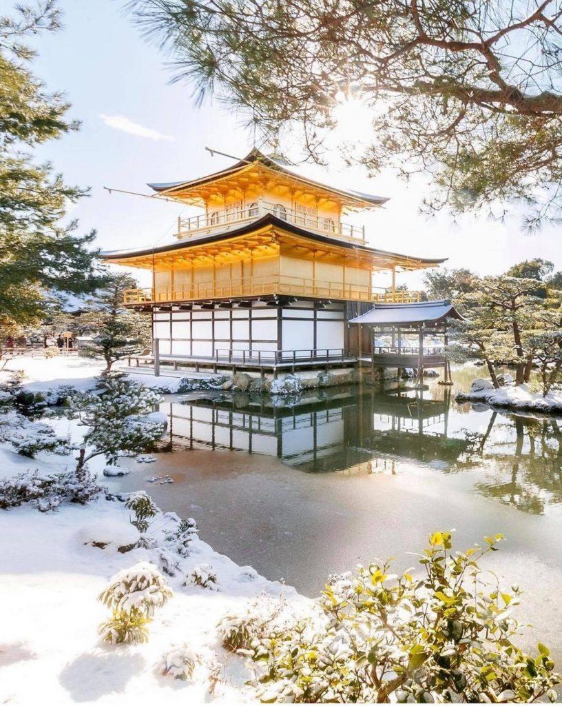 kyoto có gì nổi tiếng - Chùa Vàng Kinkajuki