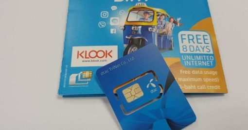 Thẻ SIM 4G (lấy tại sân bay Thái Lan) sử dụng tại Thái Lan