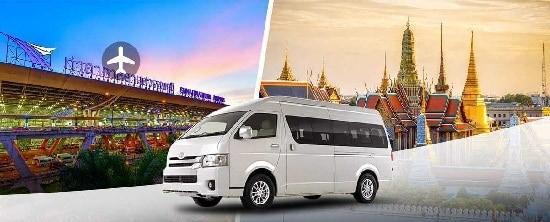 Vé xe ghép từ Bangkok đi sân bay Suvarnabhumi